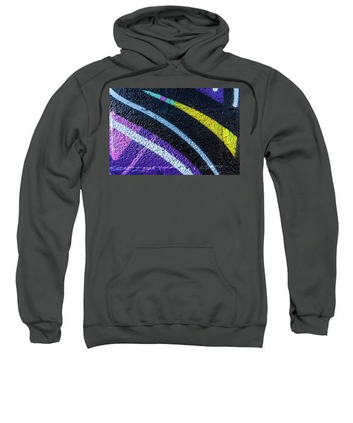 Background With Wall Texture Painted With Colorful Lines. Sweatshirt