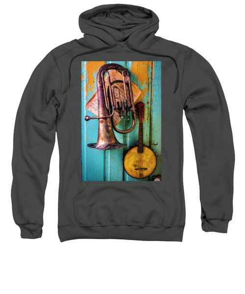 Banjo And Dented Horn Sweatshirt