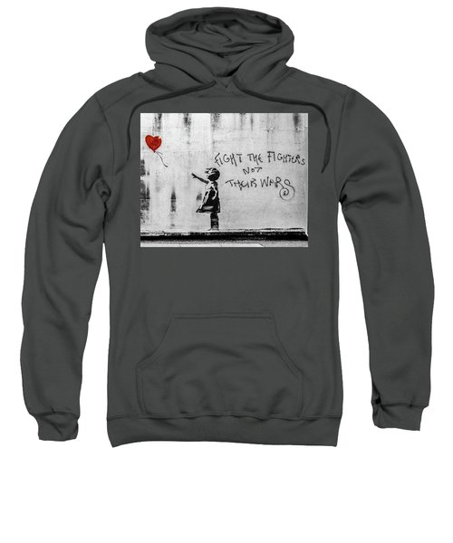 Banksy Balloon Girl Fight The Fighters Sweatshirt
