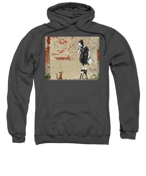 Banksy New Orleans Girl And Mouse Sweatshirt