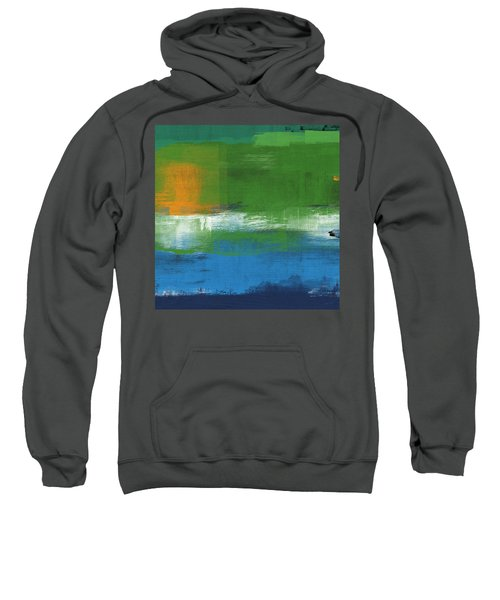 Barcelona- Abstract Art By Linda Woods Sweatshirt