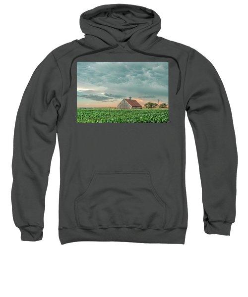 Barn In Sunset Sweatshirt