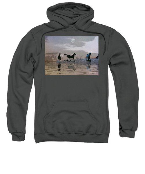 Beach Of Wild Horses Sweatshirt