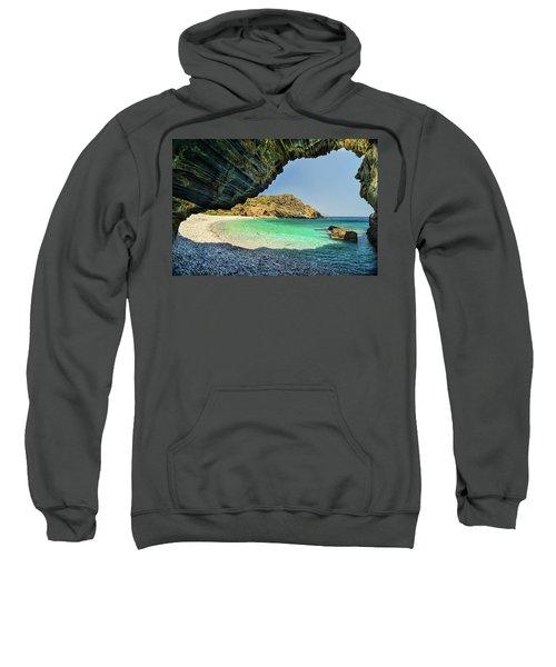 Almiro Beach With Cave Sweatshirt