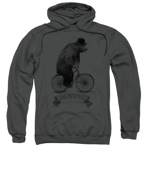 Bears On Bicycles - Lime Sweatshirt