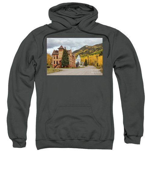Sweatshirt featuring the photograph Beautiful Small Town Rico Colorado by James BO Insogna