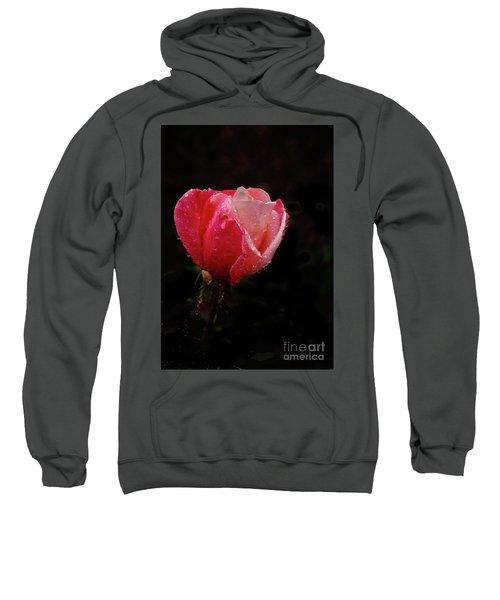 Beautiful Wet Rose Sweatshirt