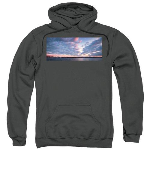 Big Sky Over Portsmouth Light. Sweatshirt