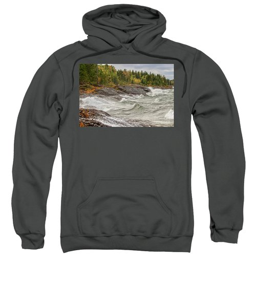 Big Waves In Autumn Sweatshirt