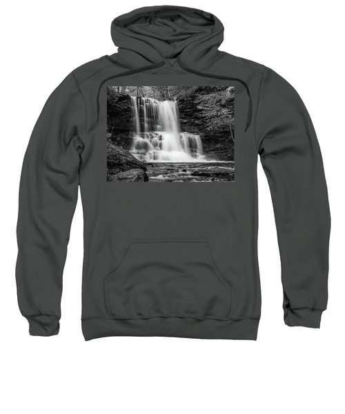 Black And White Photo Of Sheldon Reynolds Waterfalls Sweatshirt
