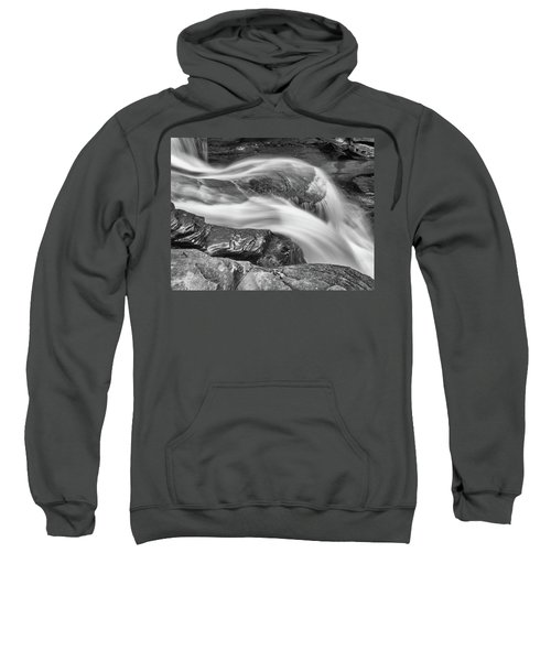 Black And White Rushing Water Sweatshirt