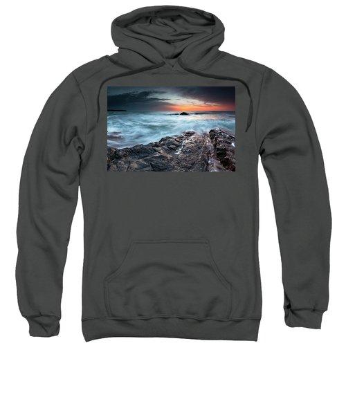 Sweatshirt featuring the photograph Black Sea Rocks by Evgeni Dinev