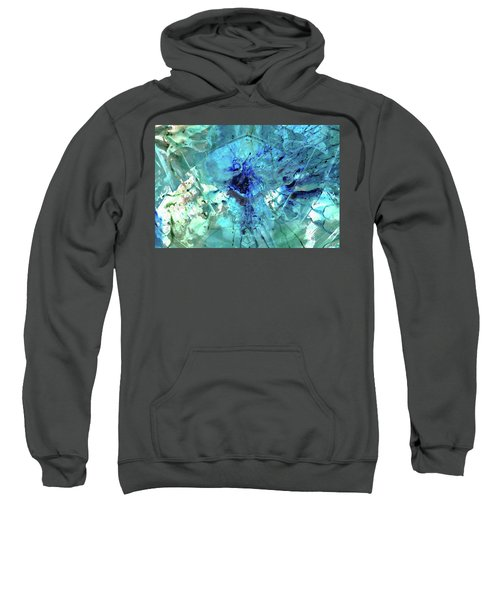 Blue Abstract Art - Heaven's Gate - Sharon Cummings Sweatshirt