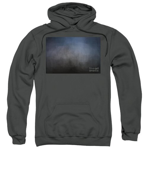 Blue Gray Abstract Background With Blurred Geometric Shapes. Sweatshirt