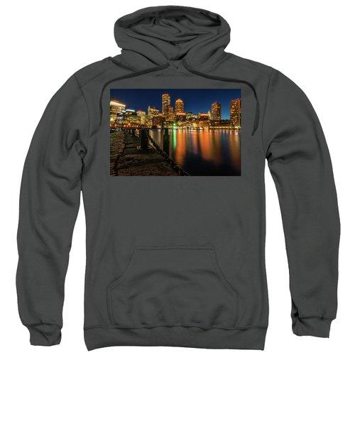 Blue Hour At Boston's Fan Pier Sweatshirt