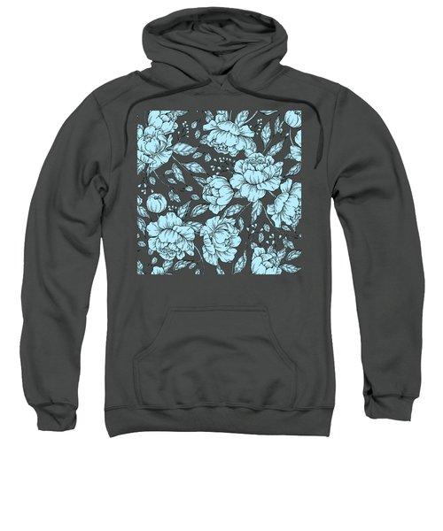 Blue Peonies Sweatshirt