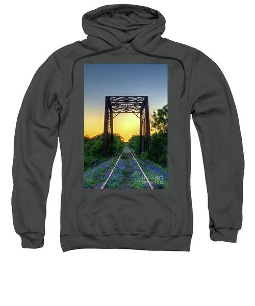 Bluebonnets On The Abandoned Railroad Sweatshirt