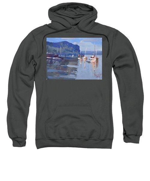Boats At Hudson River In Rockland County Sweatshirt