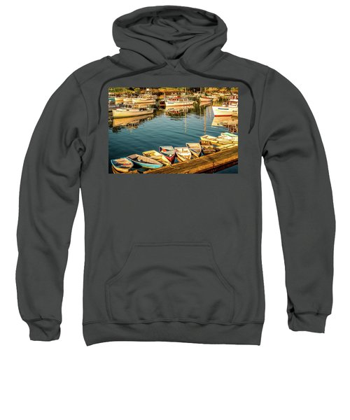 Boats In The Cove. Perkins Cove, Maine Sweatshirt