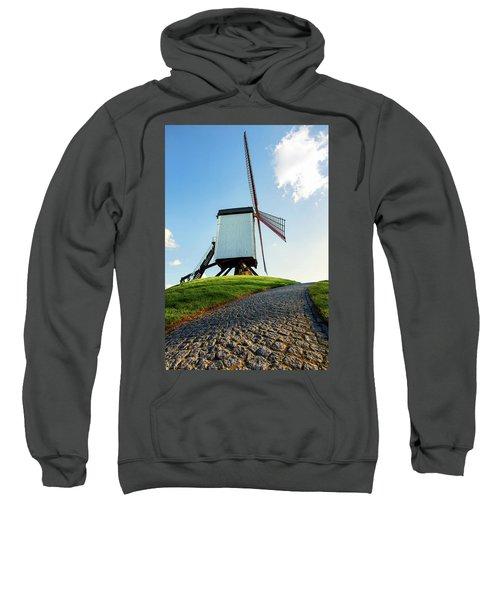 Bonne Chiere Windmill Bruges Belgium Sweatshirt