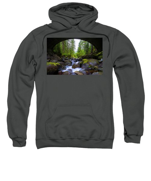 Bridge Below Rainier Sweatshirt