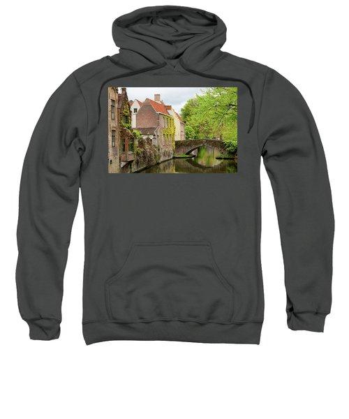 Bruges Footbridge Over Canal Sweatshirt