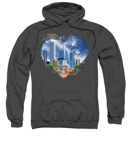 Buckingham Fountain Chicago Skyscrapers Sweatshirt