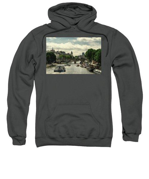 Busy Morning On The Seine Sweatshirt