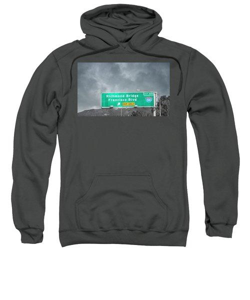 California Highway Traveling Richmond Bridge Sweatshirt