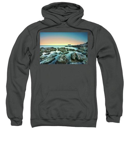 Calm Rocky Coast In Greece Sweatshirt