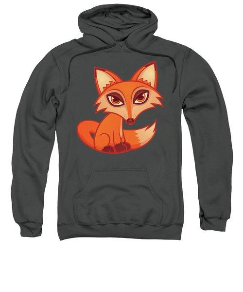 Cartoon Red Fox Sweatshirt
