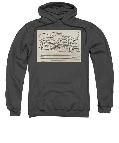 Charcoal Houses Sketch Sweatshirt