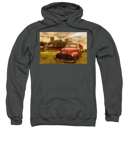Chevrolet In The Countryside Oil Painting Sweatshirt
