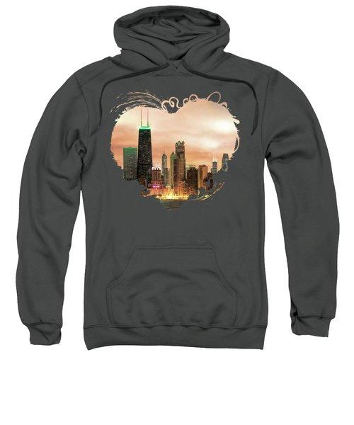 Chicago Gotham City Skyline Panorama Sweatshirt
