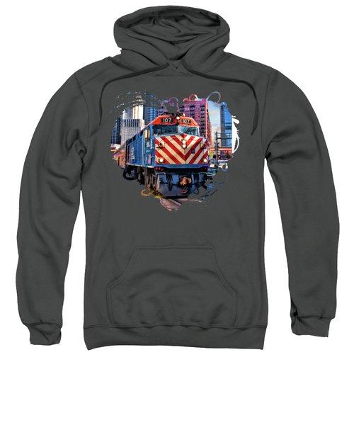 Chicago Metra Train Downtown Sweatshirt