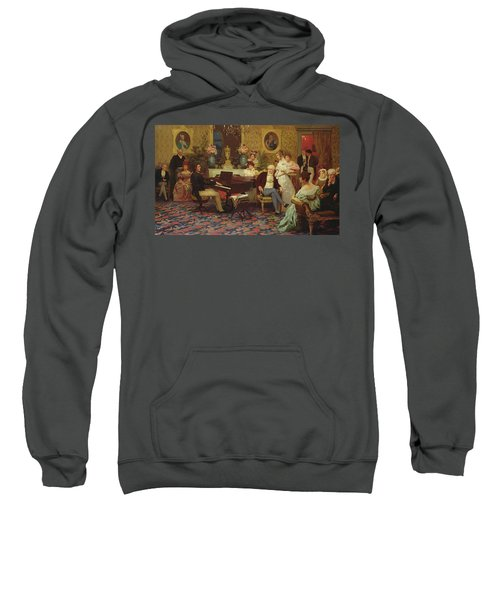 Chopin Playing The Piano In Prince Radziwills Salon Sweatshirt