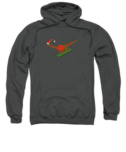 Christmas Dinosaur Snowboarding Sweatshirt