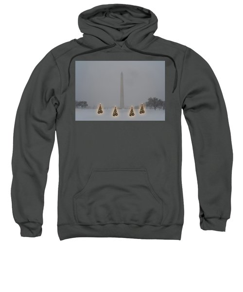 Christmas Trees Around The Monument Sweatshirt