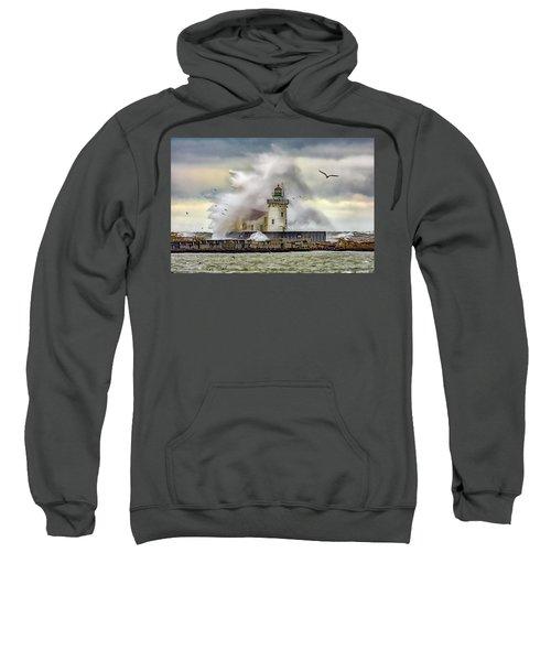 Cleveland Lighthouse Storm  Sweatshirt