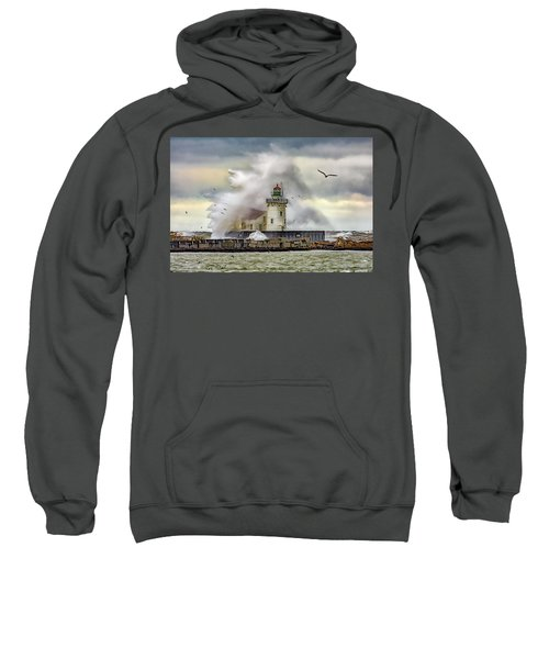 Cleveland Lighthouse Storm  Sweatshirt