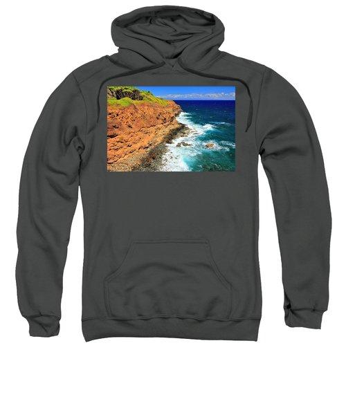 Cliff On Pacific Ocean Sweatshirt