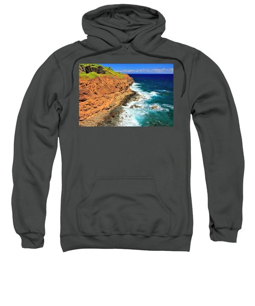 Cliff On Pacific Ocean Sweatshirt