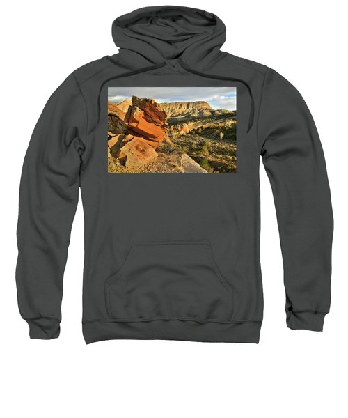 Cliffside Rock Cropping In Colorado National Monument Sweatshirt