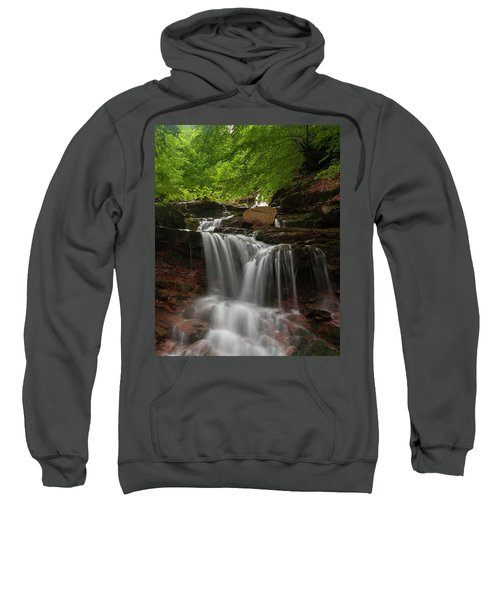 Sweatshirt featuring the photograph Cold River by Evgeni Dinev