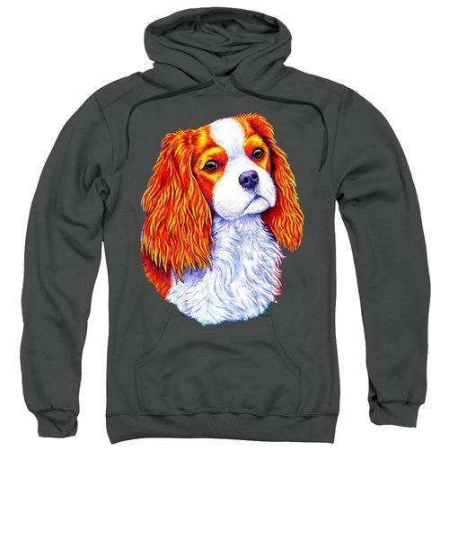 Colorful Cavalier King Charles Spaniel Dog Sweatshirt
