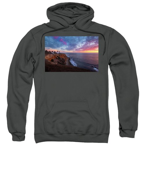 Colorful Sky After Sunset At Point Vicente Lighthouse Sweatshirt