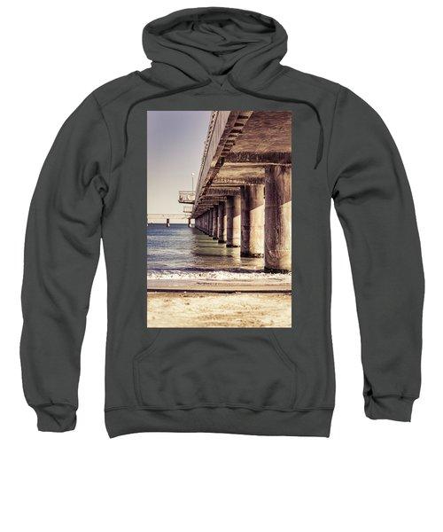 Columns Of Pier In Burgas Sweatshirt