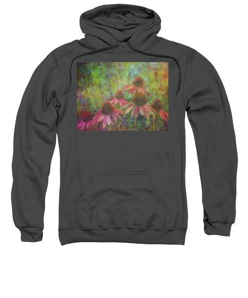 Coneflowers Among The Lavender 1667 Idp_2 Sweatshirt