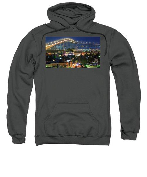 Coronado Bay Bridge Shines Brightly As An Iconic San Diego Landmark Sweatshirt