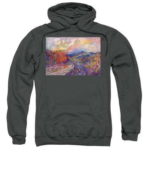 Country Road In The Autumn Forest Sweatshirt